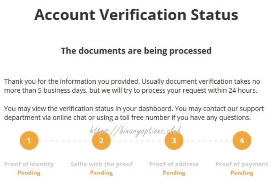 ثبت نام در الیمپ ترید زمان تایید حساب